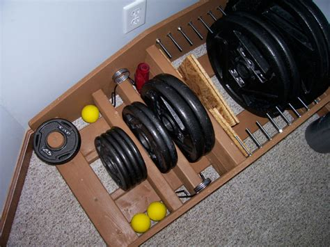 homemade strength weight storage rack