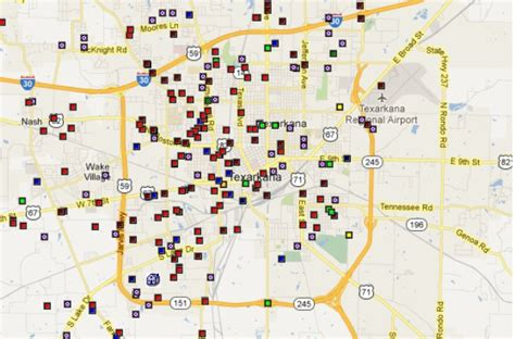 offenders in my area offenders in the texarkana area by map