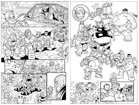 Coloring Comic by Coloring Pages Squad Free Printable Marvel