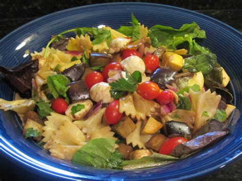 pasta salad side dish healthy side dish balsamic eggplant pasta salad future expat