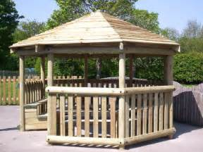 Recycled Rubber Decking by 4m Octagonal Timber Shelter Outdoor Shelters
