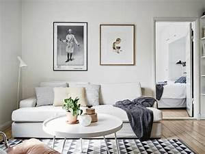 Sofa Nordischer Stil : 55 id es pour un salon d co scandinave authentique d couvrir ~ Lizthompson.info Haus und Dekorationen