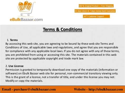 website terms and conditions best indian shopping website ebulkbazaar