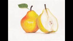 Drawing A Pear- Prismacolor Colored Pencils