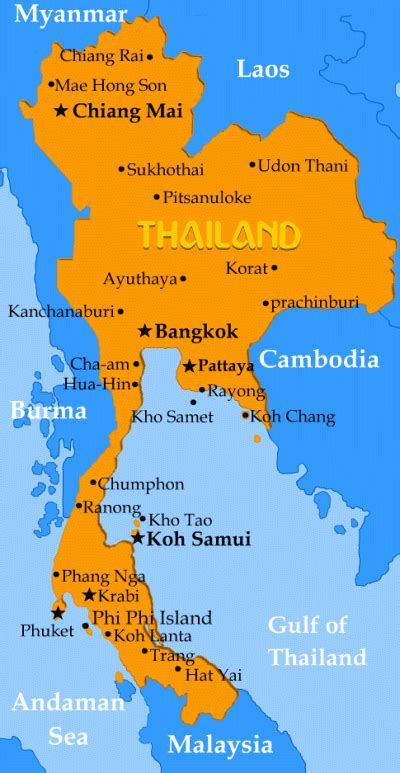 thailand map  thailand thailand pinterest chiang