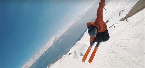 arremessando sua gopro esquiador captura  incriveis  ganha sucesso
