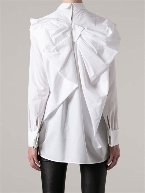 white blouse with bow viktor rolf oversize bow blouse in white lyst