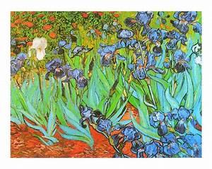 vincent van gogh garden with irises poster art print With französischer balkon mit garten poster