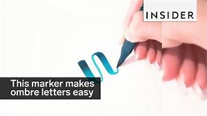 This marker makes ombre lettering a breeze youtube for Ombre lettering marker buy