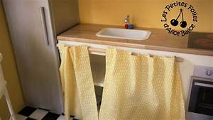 Rideau Coulissant Pour Meuble : meuble rideau pour cuisine youtube ~ Teatrodelosmanantiales.com Idées de Décoration