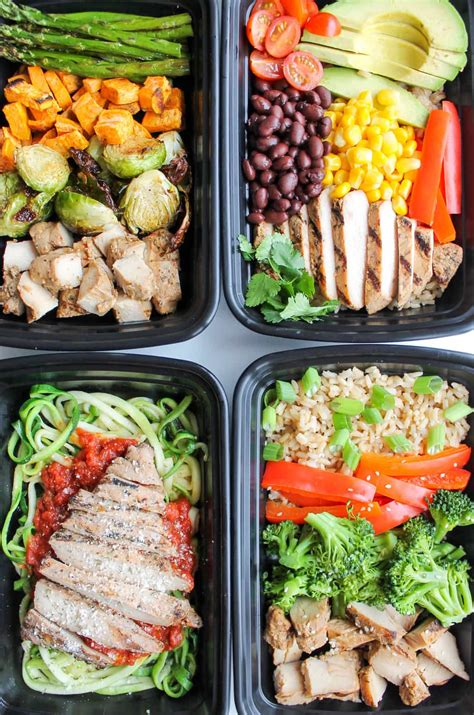 meal prep easy chicken meal prep bowls 5 ways smile sandwich