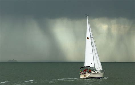 Hurricane Deck Boat On Choppy Water by Heavy Weather Sailing
