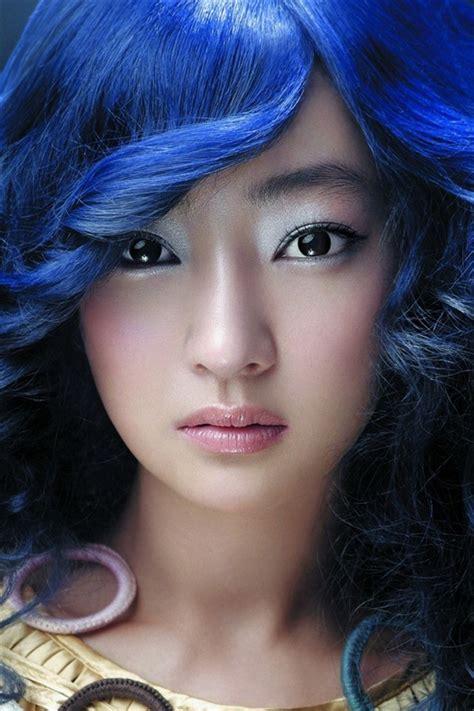 Beautiful Blue Hair Asian Girl Iphone X 876543gs