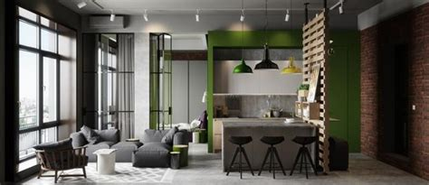 modern apartment ideas  industrial style mixing concrete