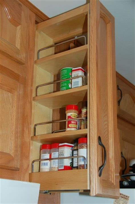 Pull Cabinet Spice Rack by Pull Out Spice Rack Kitchen Storage And Organization