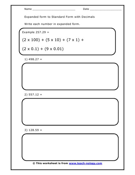 Standard Written And Expanded Form Addition
