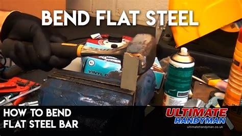 bend flat steel bar youtube