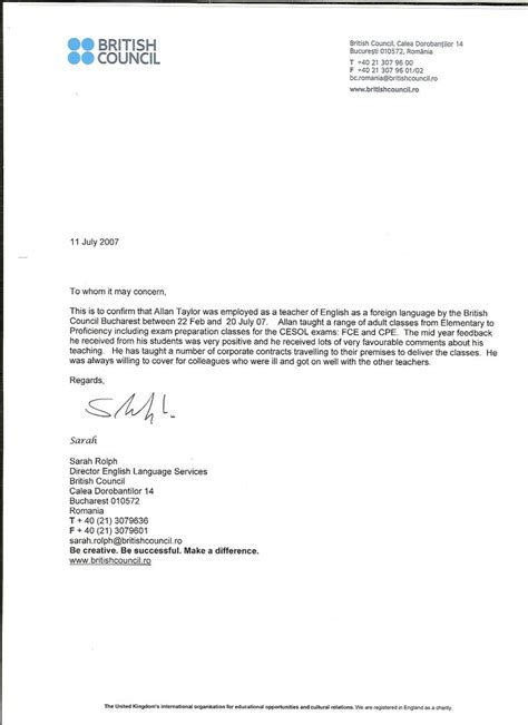 recommendation letter sample  teacher  parent