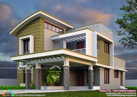 2375 sq-ft, 4 bedroom modern house plan - Kerala home