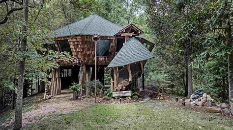 A magical hideaway, nestled deep in the woods. Enchanting storybook treehouse sells in Mississippi ...