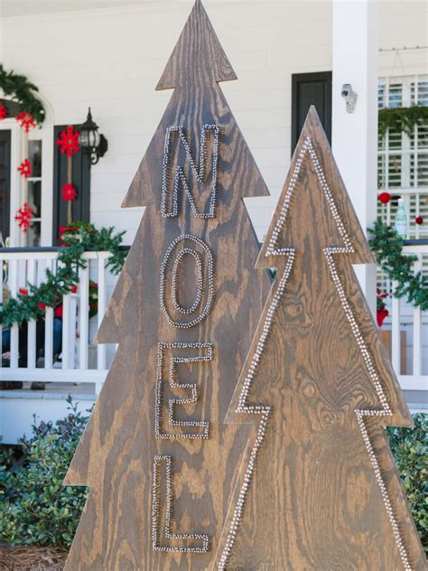 Wooden Decorations - how to make rustic nail trees hgtv