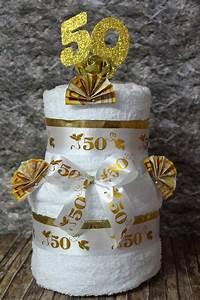 Hochzeitstag Geschenk Selber Machen : geldgeschenke xxl geld geschenk handtuchtorte goldene hochzeit ein designerst ck von ~ Frokenaadalensverden.com Haus und Dekorationen
