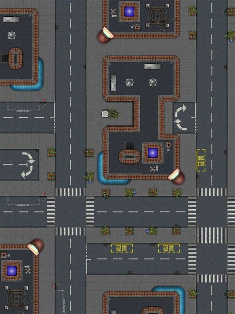 map modern maps dundjinni rpg tiles streets street shadowrun tile game tabletop mapping software mall sci fi cyberpunk road forums