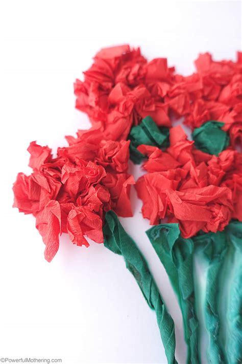 crepe paper flower cards