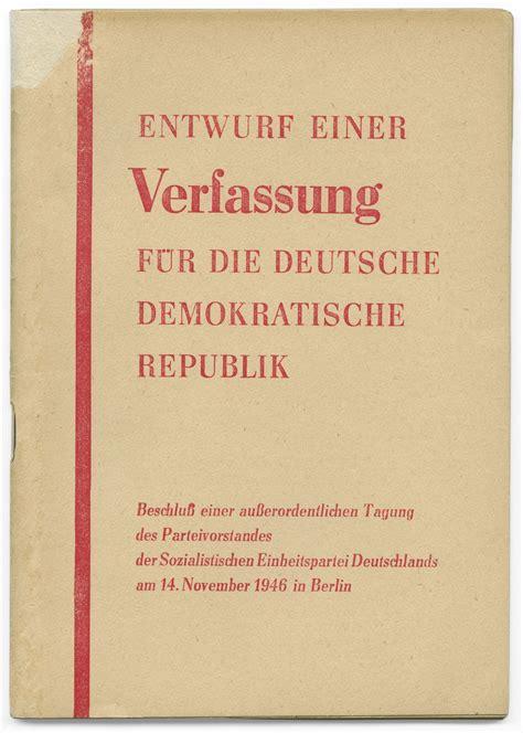 lemo objekt entwurf einer verfassung fuer die deutsche