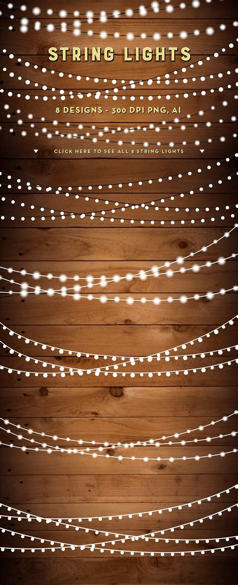 String Lights Clipart by String Lights Clip Set Png Ai Graphic Objects