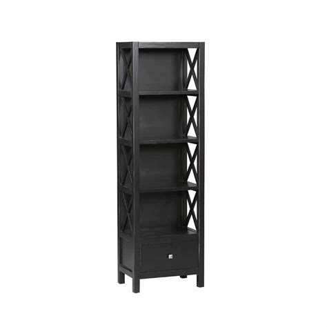 Black Bookcase by Black Open Bookcase K86102c124 The Home Depot