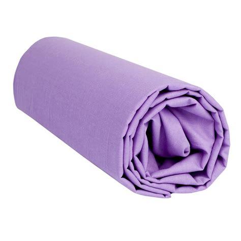 drap housse lilas uni