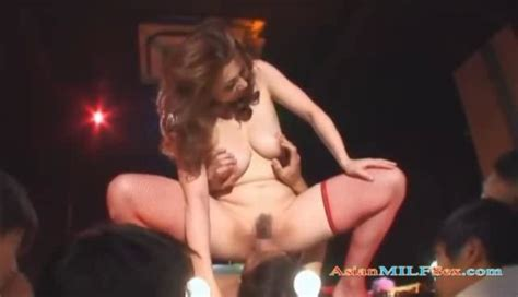 Busty Asian Stripper Giving Blowjob And Fucking On A Stage