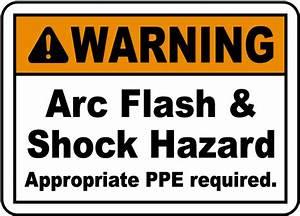 warning arc flash shock hazard label j5528 by With arc flash warning signs