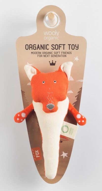 Wooly Organic Funky Feet kolekcijas grabulis Lapsa, 21cm ...