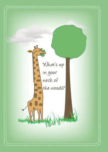 cute giraffe     ecards greeting cards