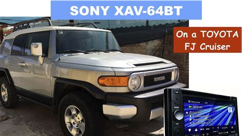 Toyota Fj Replacement by Toyota Fj Cruiser Stereo Replacement Removal For Sony Xav