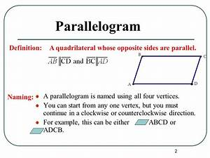 Lesson 6-2 Parallelograms. - ppt video online download