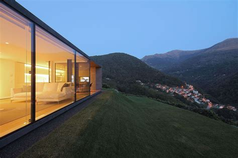 Monolithic Villa Blends In With The Swiss Alps