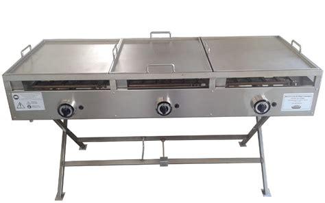 piano cottura con piastra piastra in acciaio inox a gas per cucinare piastra di