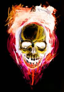 Neon Colored Skulls