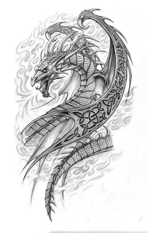 Dragon Fantasy Myth Mythical Mystical Legend Dragons Wings Sword Sorcery Magic Coloring pages