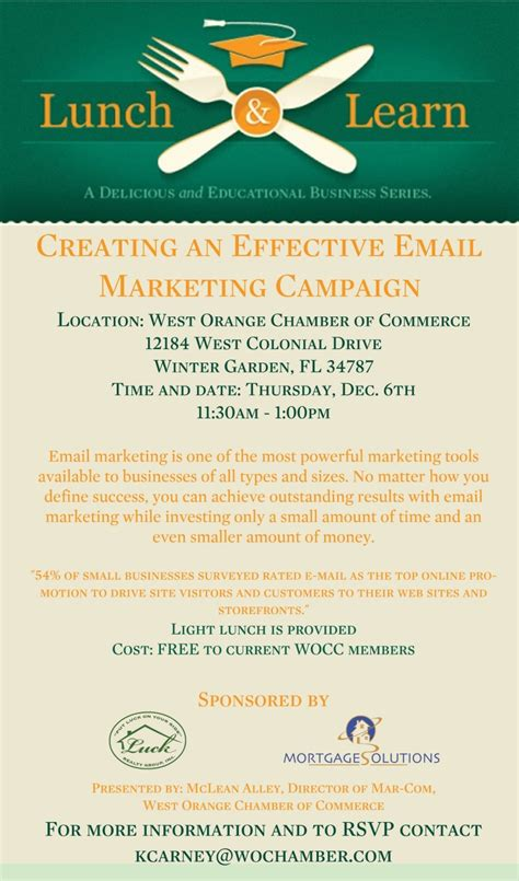 lunch  learn creating  effective email marketing