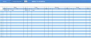 Project Scorecard Template Tv Schedule Template