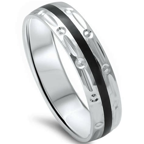5mm black onyx comfort fit 925 sterling silver wedding band ring sizes 8 12 ebay