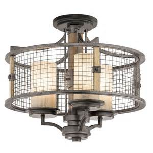 ahrendale chandelier semi flush mount by kichler 43581avi