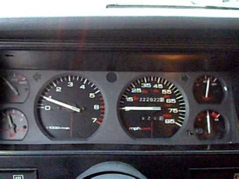 jeep cherokee dashboard 1993 jeep cherokee sport dash rev youtube