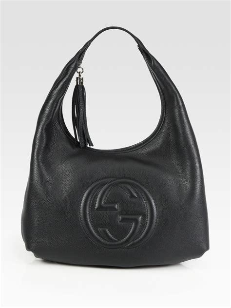 gucci soho medium hobo bag  black lyst