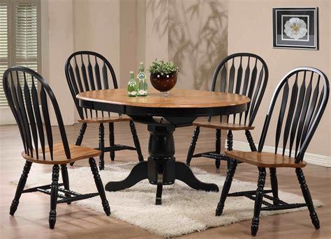 missouri black single pedestal dining room set  eci