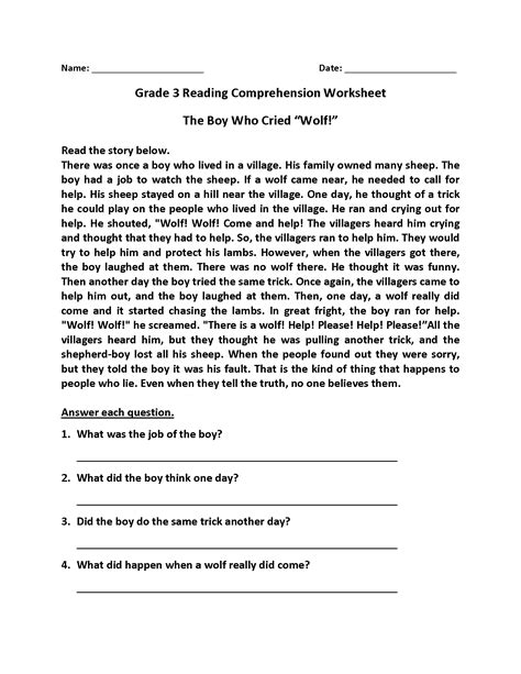 reading comprehension worksheets  coloring pages